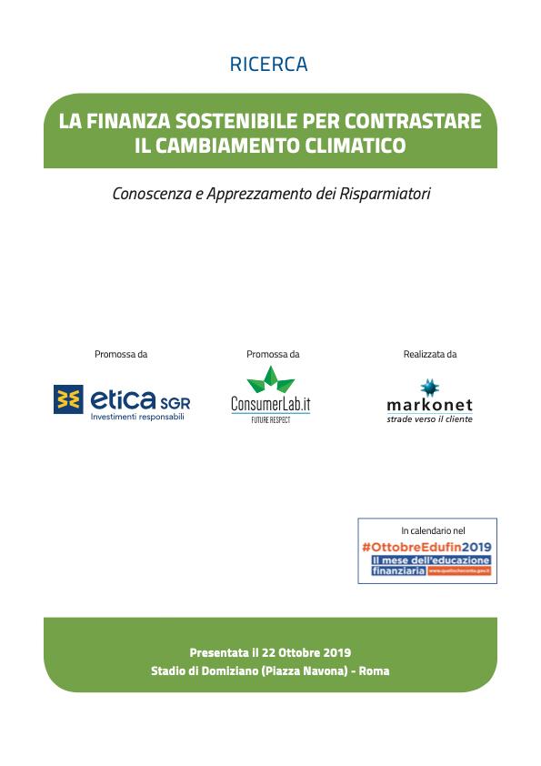 Finanza sostenibile per contrastare il cambiamento climatico